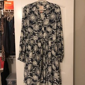Anthropologie Printed Dress Size 14